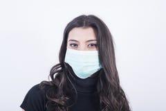 Mooie vrouw met masker Royalty-vrije Stock Foto