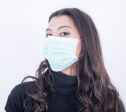 Mooie vrouw met masker Stock Fotografie
