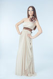 Mooie vrouw met moderne kleding Royalty-vrije Stock Foto