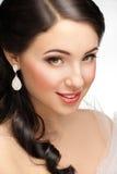 Mooie vrouw met mooie make-up Royalty-vrije Stock Afbeeldingen