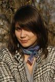 Mooie vrouw met mooie sm Stock Foto