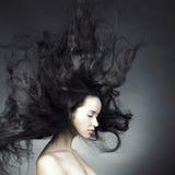 Mooie vrouw met prachtig haar Stock Fotografie