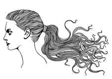 Vrouwelijk Profiel royalty-vrije illustratie