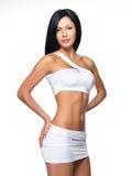 Mooie vrouw met sportief slank lichaam Royalty-vrije Stock Foto's