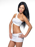 Mooie vrouw met sportief slank lichaam Stock Fotografie
