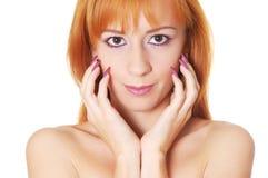 Mooie vrouw met verleidelijke blik Stock Foto's
