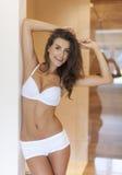 Mooie vrouw in ondergoed royalty-vrije stock foto