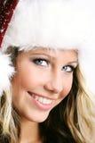 Mooie vrouw op Kerstmis Royalty-vrije Stock Afbeeldingen
