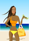 Mooie Vrouw in Patriottische Bikini royalty-vrije illustratie