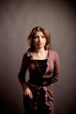 Mooie vrouw in studio Royalty-vrije Stock Foto's