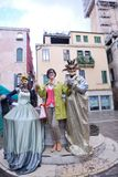 Mooie vrouw in Venetië Royalty-vrije Stock Foto