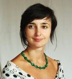 Mooie vrouw in wit Royalty-vrije Stock Foto's