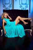 Mooie vrouw zoals een prinses in het paleis Luxueus rijk FA Stock Foto's
