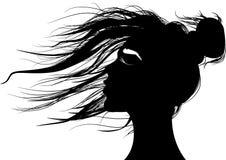 Mooie vrouw in zwart-wit stock illustratie