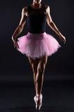 Mooie Vrouwelijke Balletdanser Dansende vrouw royalty-vrije stock afbeeldingen