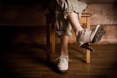Mooie vrouwelijke benen in hoge hielen Royalty-vrije Stock Foto
