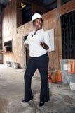 Mooie Vrouwelijke Bouw Admin (3) Stock Afbeelding