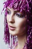 Mooie Vrouwelijke gezichtsclose-up Stock Foto's