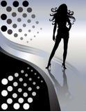 Mooie Vrouwelijke Sexy Dame Silhouette Royalty-vrije Stock Foto