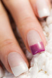 Mooie vrouwelijke vingernagels Royalty-vrije Stock Afbeeldingen