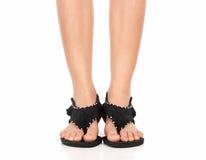 Mooie vrouwelijke voeten Royalty-vrije Stock Afbeeldingen