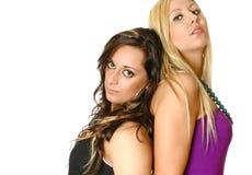 Mooie vrouwelijke vrienden Stock Foto's