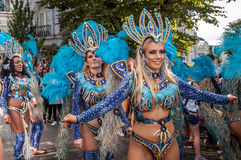 Mooie vrouwen bij Notting-Heuvel Carnaval royalty-vrije stock afbeeldingen