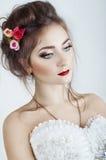 Mooie vrouwenfiancee Versheid en schoonheid stock foto