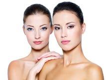 Mooie vrouwengezichten royalty-vrije stock fotografie