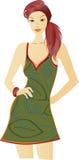 Mooie vrouwenillustratie royalty-vrije illustratie