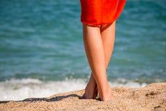 Mooie vrouwens benen Stock Afbeelding
