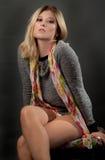 Mooie Vrouwensweater en Sjaal stock afbeeldingen