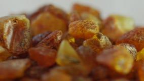 Mooie Vurige Amber In Macro stock videobeelden