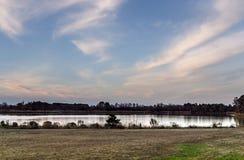 Mooie Waterkant in Landelijk Delaware royalty-vrije stock afbeelding