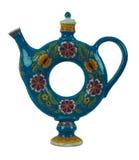 Mooie waterkruik voor dranken in de vorm van een geïsoleerde torus Royalty-vrije Stock Afbeeldingen