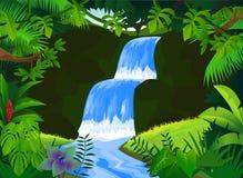 Mooie waterval Royalty-vrije Stock Foto's