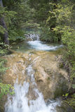 Mooie waterval in berg Royalty-vrije Stock Foto's