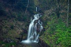 Mooie waterval in Beskydy Royalty-vrije Stock Afbeeldingen
