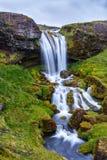 Mooie Waterval in IJsland Royalty-vrije Stock Afbeelding