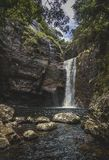 Mooie waterval in Sri Lanka royalty-vrije stock foto's