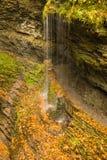 Mooie watervalcascade Stock Foto
