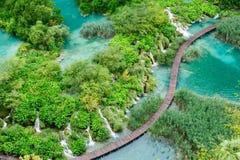 Mooie watervallen in Plitvice-Nationale Meren Royalty-vrije Stock Afbeelding