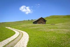 Mooie weg in de Alpen Stock Afbeelding