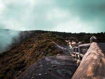 Mooie wiews van Irazu Volcano Park in Kosten Rica met blauwe tonen royalty-vrije stock foto