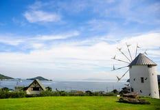Mooie windmolens Stock Afbeeldingen