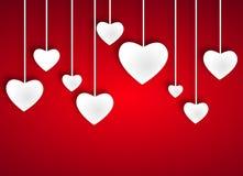 Mooie witte harten Stock Afbeeldingen
