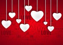 Mooie witte harten Stock Afbeelding