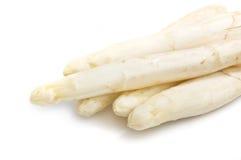 Mooie witte jumboasperge dichte omhooggaande spruit Royalty-vrije Stock Fotografie