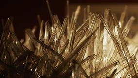 Mooie witte kristallen stock footage
