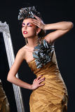 Mooie witte vrouw in diva beeld Royalty-vrije Stock Afbeeldingen